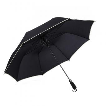Reflective Piping Large Fold Umbrella