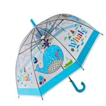 Blue Border Transparent Clear Umbrella